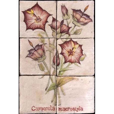 Pannello maiolicato fiori Campanula