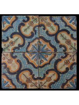 Copia di piastrella di maiolica Vietrese