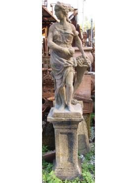 Statua da giardino in pietra ricostituita