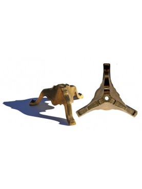 Brass base with three legs