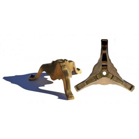 Brass base with three legs