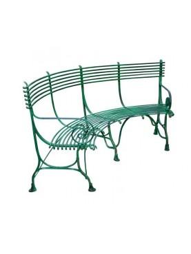 Panchina 190 cm in ferro battuto a 4 posti semicircolare