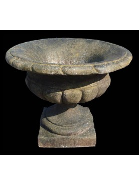 Concrete sand stone vase