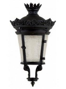 Grande lanterna in ferro e vetro rotonda