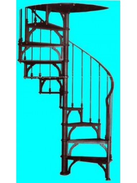 Cast-iron spiral staircase