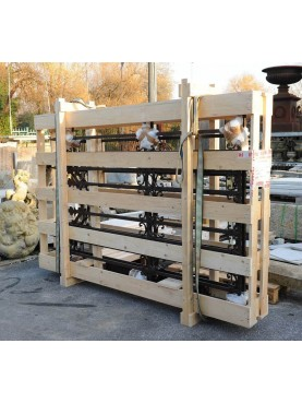 Wooden-crate for garden gate 270x50xh180 cm