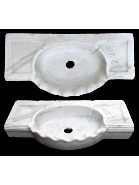 Antico originale lavandino in marmo smerlato