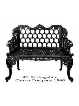 Scotland Cast iron bench Carron foundry