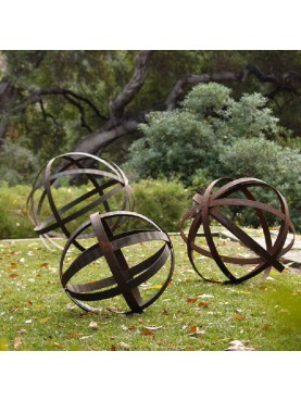 Ornamental armillary spheres - forged iron