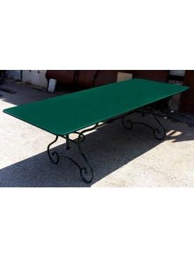 Grande tavolo 200 CM in ferro battuto e lamiera