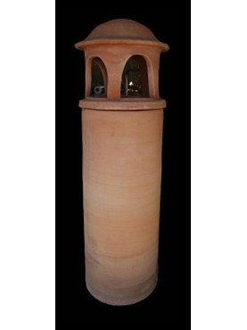 Small terracotta chimney Øint.21cms