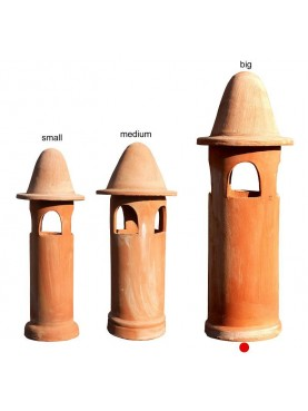 Large terracotta chimney Øint.25cms