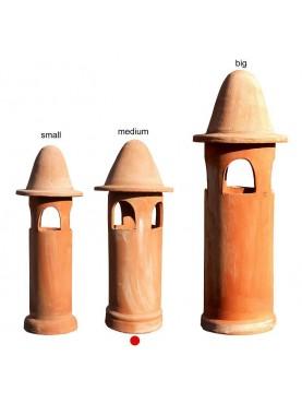 Medium terracotta chimney Øint.17cms