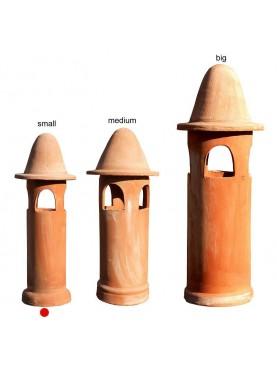 Small terracotta chimney Øint.15cms