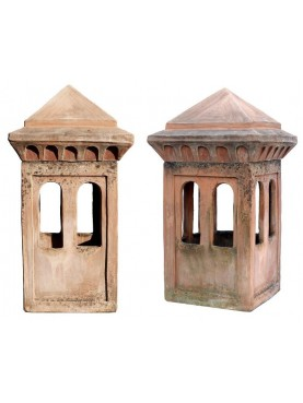 Large Tuscan terracotta chimney pot Øint. 27cms