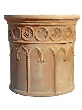 Corinthian cylindrical vase Ø60cms