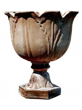 Calici in terracotta a forma di tulipano - grande