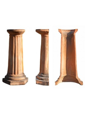 Colonna cava per lavandino in terracotta