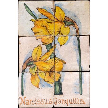 Pannello maiolicato NARCISO