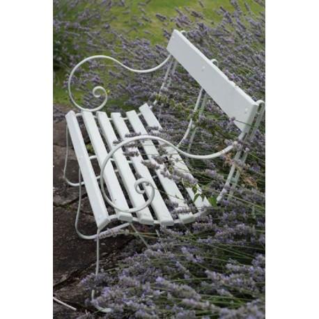 Panchina 125 cm legno e ferro di nostra produzione