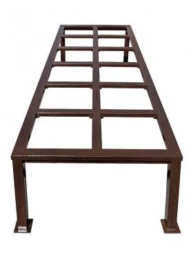 Tavolo minimalista in ferro per piastrelle