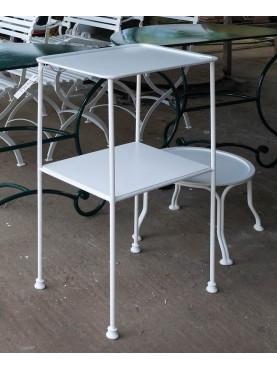 Tavolinetto in ferro a due piani