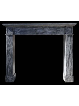 Fireplace in Grey Bardiglio Marble