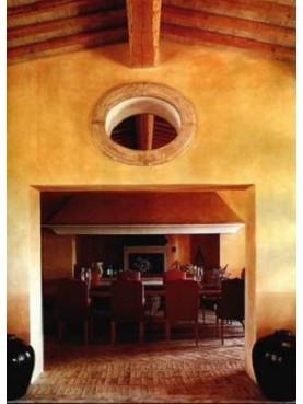 finestra OVALE IN 4 PEZZI in terracotta
