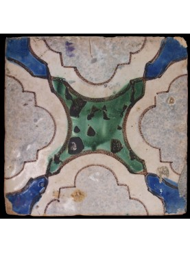Neapolitan ancient majolica tile