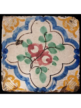 Italian ancient majolica tiles