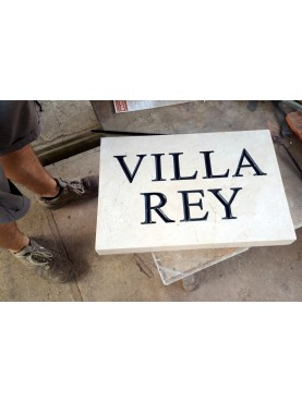 Targa identificativa Villa Rey