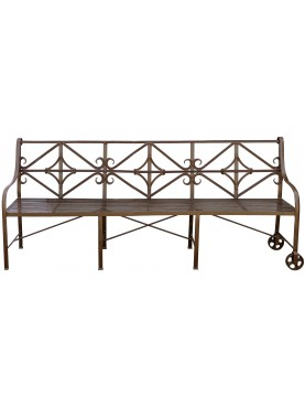 Panchina/Divanetto 240 cm ferro battuto con ruote