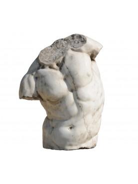 Torso Gaddi in marmo bianco di Carrara