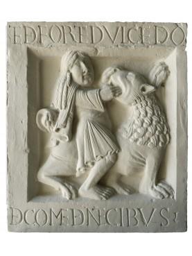 "Nonantola Tile Abbey ""Enigma of Samson"""