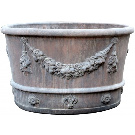 Oval frowers pot