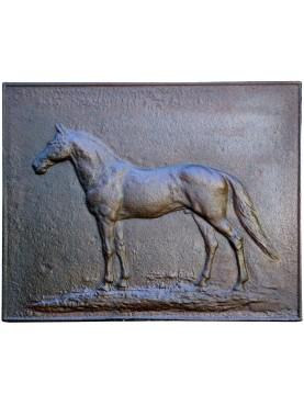 Cast Iron Fireback L 62 cm Horse