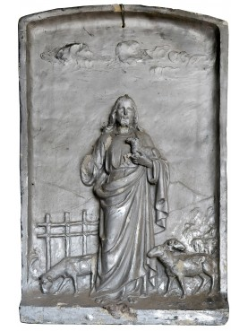 The good shepherd original ancient plaster cast