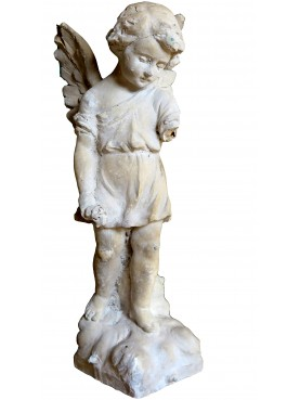 Ancient small winged angel plaster cast