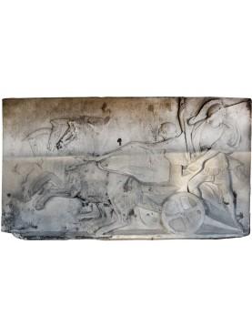 Chalk basrelief