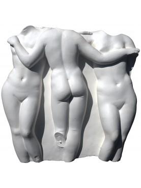 the three graces plastre cast basrelief