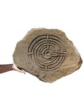 Ravenna's Labyrinth on river pebble