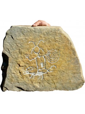 Chaco canyon petroglyph our reproduction
