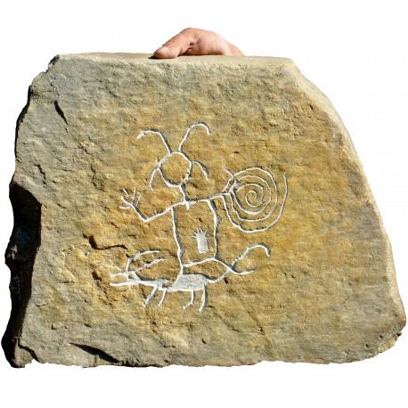 Petroglifo della Cultura Chaco del New Mexico nostra produzione