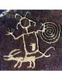 Petroglifo originale della Cultura Chaco