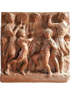 Bas-relief of the Choir of Luca della Robbia REPRO terracotta