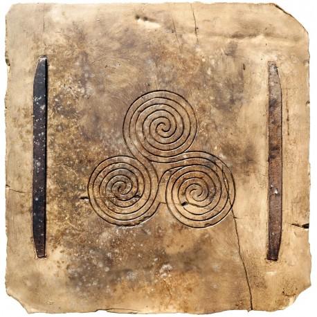 Triscele di Newgrange (Irlanda) nostra riproduzione
