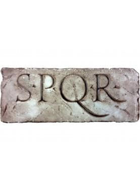 Roman epigraph SPQR