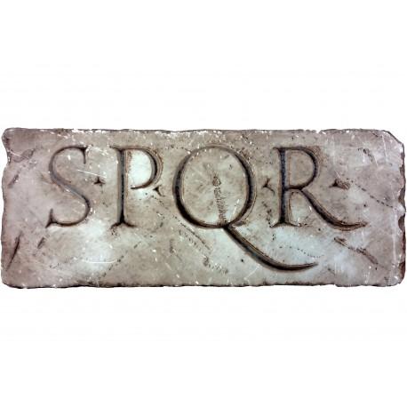 Epigrafe Romana SPQR anticata