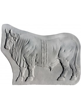 Bassorilievo in gesso Toro romano antico