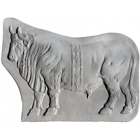 Bull Chalk relief - rectangular frame